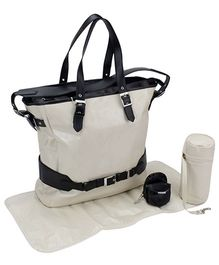 My Milestones Viva Tote Diaper Bag - Cream