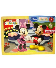 Mickey Mouse and Friends Puzzle with Wooden Frame- 12 Pieces