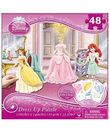 Disney Princess Dress Up Puzzle- 48 Pieces