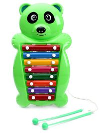 Prime Creation Pull Along Panda Xylophone Green