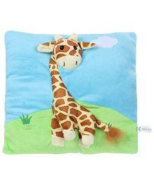 Baby Giraffe Applique Pillow Cushion