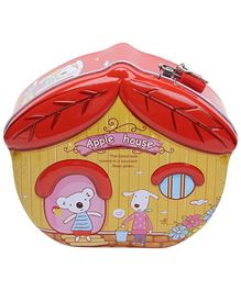 Coin Bank Red - House Shape