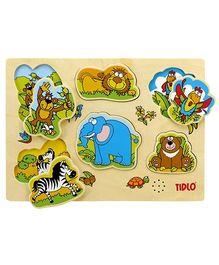 Tidlo Wooden Jungle Sounds Puzzle