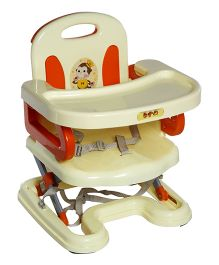 A B Love Baby Folding Dinning Chair - Cream And Orange