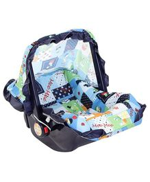 Mee Mee 3 in 1 Carry Cot Multiple Print Light Blue
