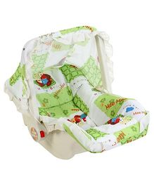 Mee Mee 3 in 1 Carry Cot Multiple Print -  Green