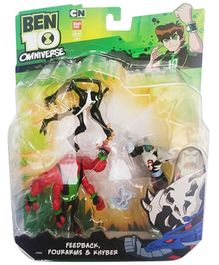 Ben 10 Evil Vs Justice Action Figures 3 in 1 Pack