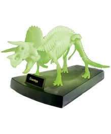 Geoworld Jurassic Night Triceraptors Skeleton