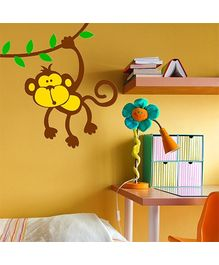 Chipakk Hanging Monkey Wall Decal Brown And Yellow - Medium