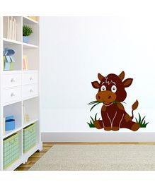 Chipakk Cow Wall Decal Brown - Medium