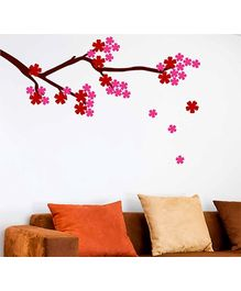 Chipakk Flowering Branch 1 Wall Decal Pink - Medium