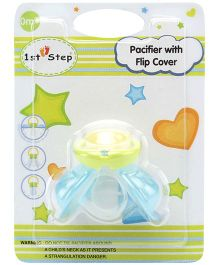 1st Step Pacifier With Flip Cover - Blue