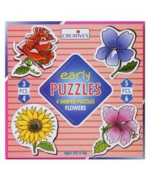 Creative's - Early Puzzles - 4 Shaped Puzzles Flowers