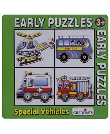 Creative's - Early Puzzles - 4 Shaped Puzzles Special Vehicles