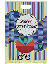 Karmallys Printed Happy Birthday Bag- Blue