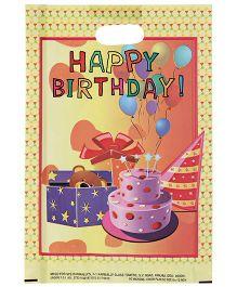 Karmallys Printed Happy Birthday Bag- Light Yellow