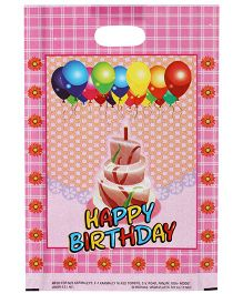 Karmallys Printed Happy Birthday Bag- Pink