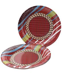 Karmallys Designed Paper Plate Set- 10 Plates