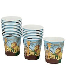 Karmallys Paper Cups Animal Jungle Print - 210 ml