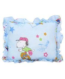 Babyhug Rectangular Loving You Print Baby Pillow - Blue
