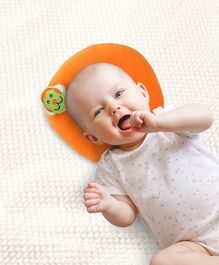 Babyhug Shape Supporter Baby Pillow Monkey Motif - Orange