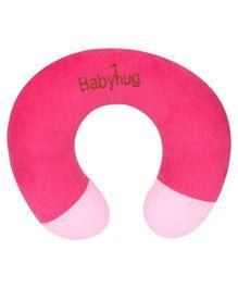 Babyhug Plush Neck Pillow - Dark Pink