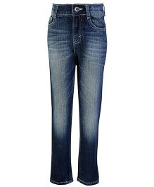 Dreamszone Full Length Jeans Torn Effect - Navy Blue