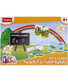 Funskool Play and Learn Animals and Their Babies