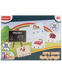 Funskool Play And Learn Puzzle - Lets Learn Spellings