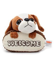 Play N Pets Doggy Soft Toy Door Hanger - Brown and White