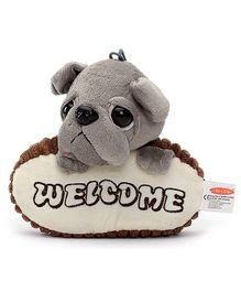 Play N Pets Doggy Soft Toy Door Hanger - Grey