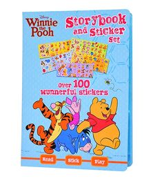 Parragon Disney Winnie The Pooh Storybook And Sticker Set - English