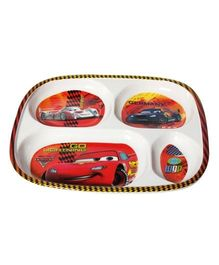 Disney Pixar Cars Four Section Plate