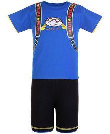 Doreme Half Sleeves Printed T-Shirt And Shorts Set