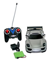 Adraxx Designer Remote Control Sports Car Model- Silver