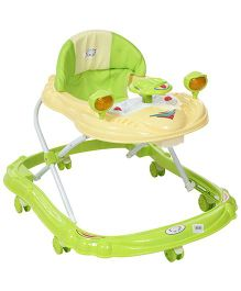 Fab N Funky Baby Walker Car Shape - Green