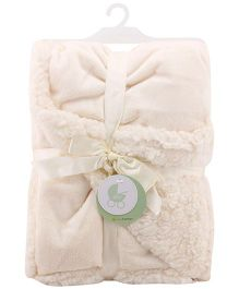 Piccolo Bambino Reversible Chamois Blanket- Cream