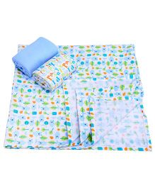 Honey Bunny Receiving Blankets Set Of 3 - Multicolour