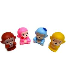 Marbles Squeeze Monkey Bath Toys - Set of 4