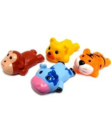 Marbles Squeeze Sleeping Animals Bath Toys - Set of 4