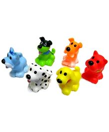 Marbles Squeeze Dog Bath Toys - Set of 6
