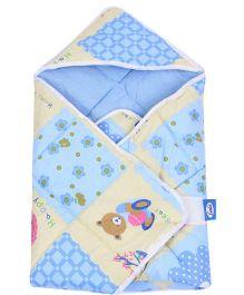 Little's Dry Robe Happy Bear Print - Blue