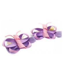 NeedyBee Pack of 2 Butterfly Clips - Purple
