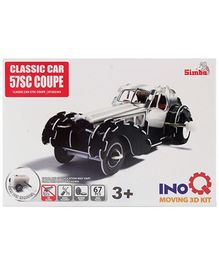 Simba Classic Car 57SC Coupe INOQ Moving 3 D Kit Puzzle - 67 Pieces
