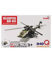 Simba Helicopter AH-64 INOQ Moving 3 D Kit Puzzle - 36 Pieces
