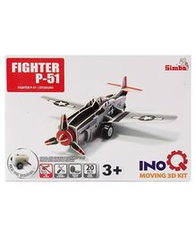 Simba Fighter P-51 INOQ Moving 3 D Kit Puzzle - 20 Pieces