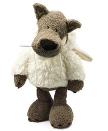 Nici Dangling Wolf Dressed In Sheeps Clothing Soft Toy - Height 25 cm