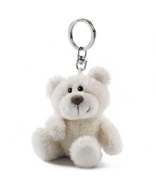 Nici Bear Beige Plush Key Chain- Off White
