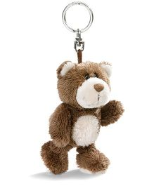 Nici Plush Key Chain- Dark Brown
