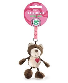 Nici Bear Plush Talisminis Key Chain- Dark Brown